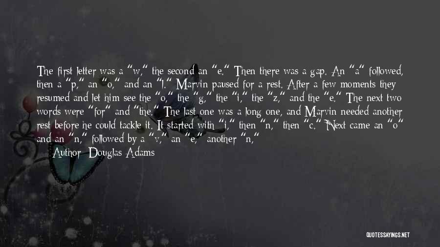 W G P Quotes By Douglas Adams