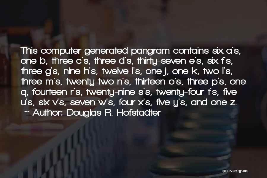 W G P Quotes By Douglas R. Hofstadter