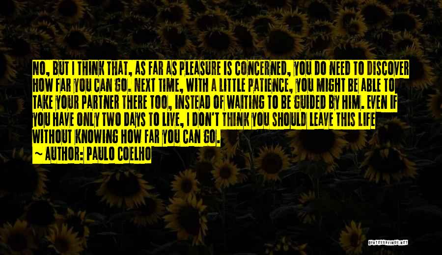 Waiting For My Life Partner Quotes By Paulo Coelho