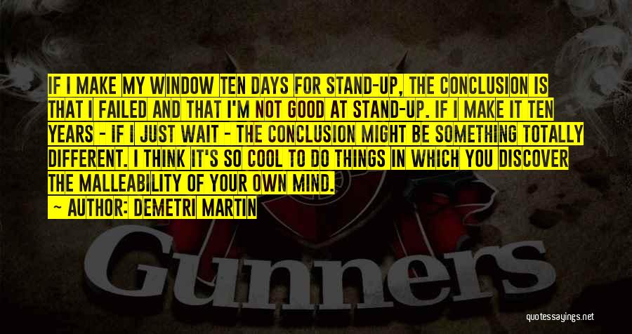 Waiting For Something Good Quotes By Demetri Martin