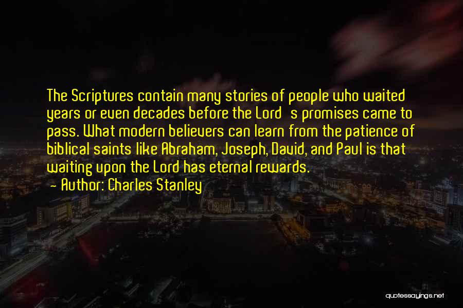 Waiting In The Bible Quotes By Charles Stanley