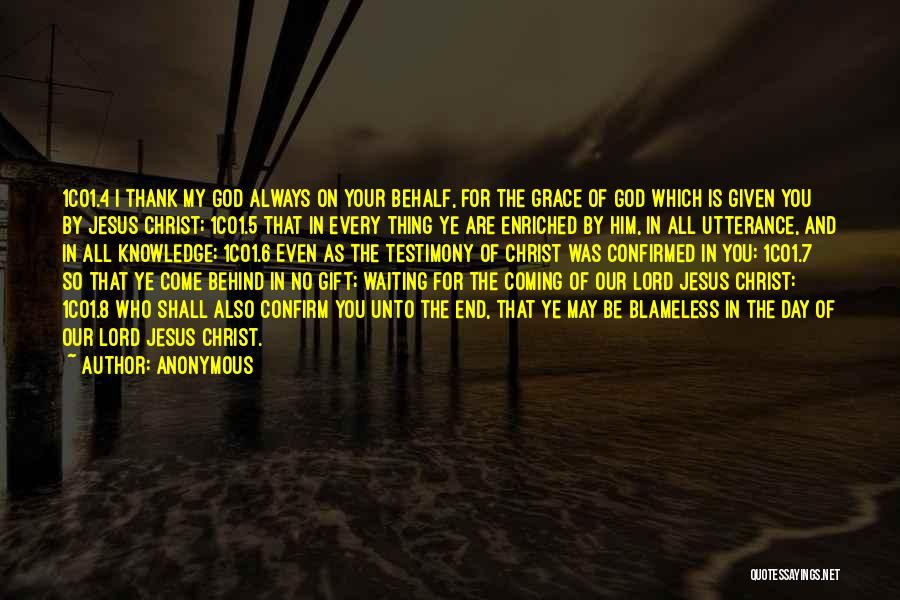 Waiting On The Lord Quotes By Anonymous