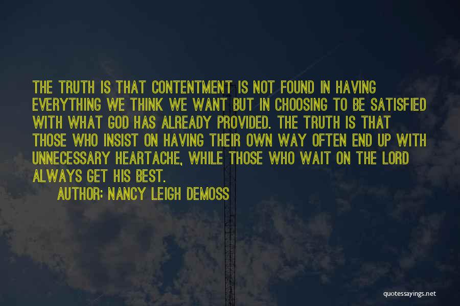 Waiting On The Lord Quotes By Nancy Leigh DeMoss