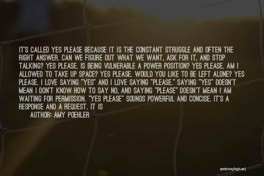 Waiting To Say I Love You Quotes By Amy Poehler