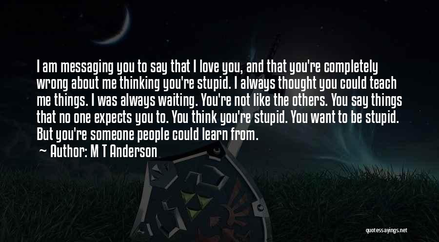 Waiting To Say I Love You Quotes By M T Anderson