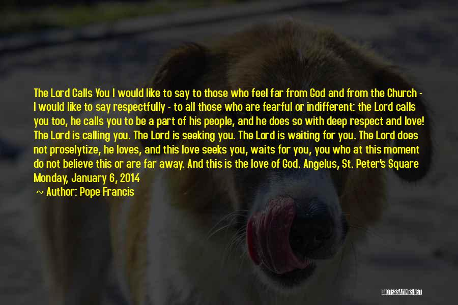 Waiting To Say I Love You Quotes By Pope Francis