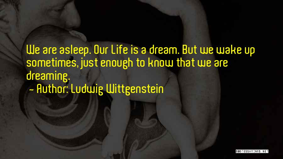 Wake Up Dreaming Quotes By Ludwig Wittgenstein