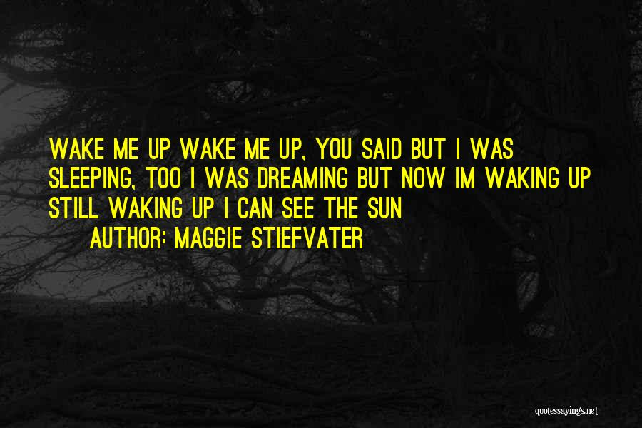 Wake Up Dreaming Quotes By Maggie Stiefvater