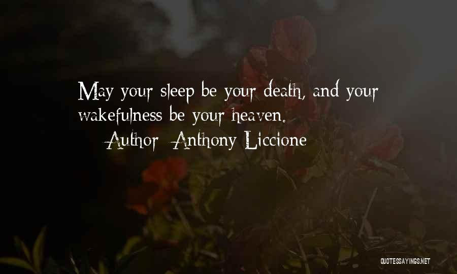 Wakefulness Quotes By Anthony Liccione