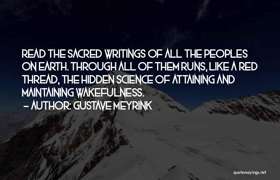 Wakefulness Quotes By Gustave Meyrink