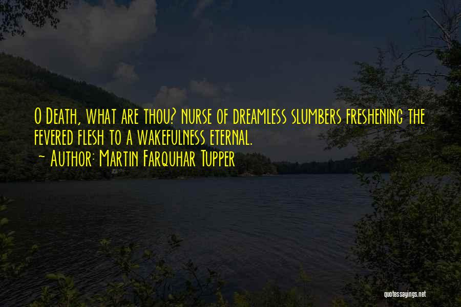 Wakefulness Quotes By Martin Farquhar Tupper
