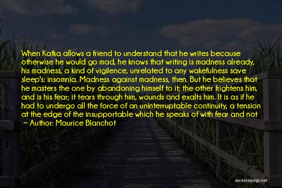 Wakefulness Quotes By Maurice Blanchot