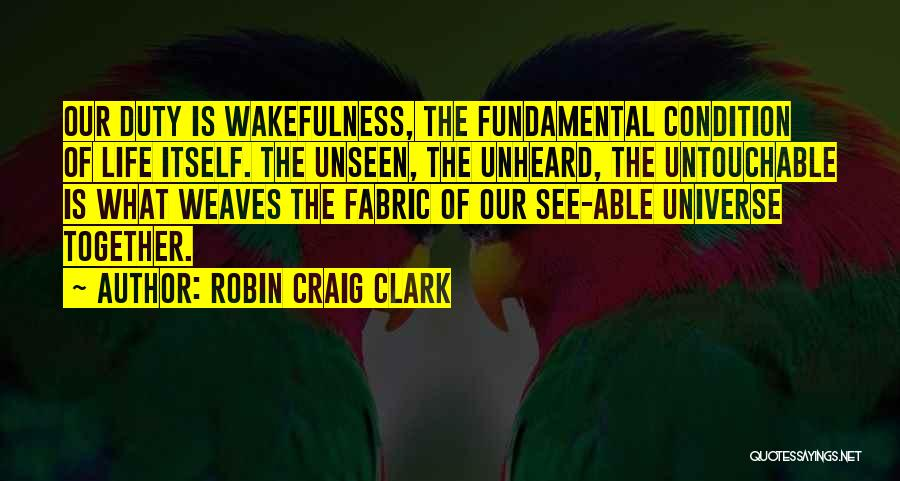 Wakefulness Quotes By Robin Craig Clark