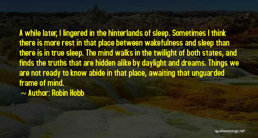 Wakefulness Quotes By Robin Hobb