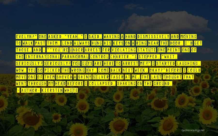 Walk Next To Me Quotes By Kiersten White