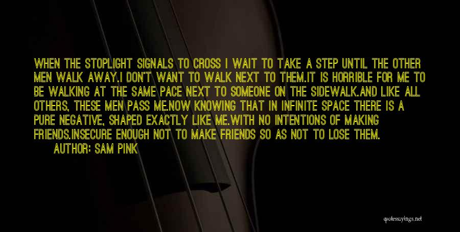 Walk Next To Me Quotes By Sam Pink