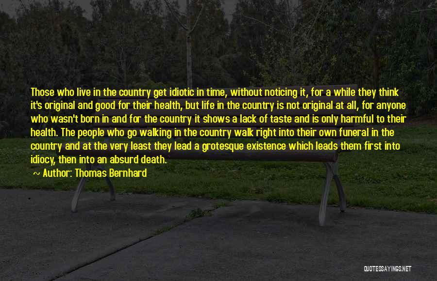 Walking Good For Health Quotes By Thomas Bernhard