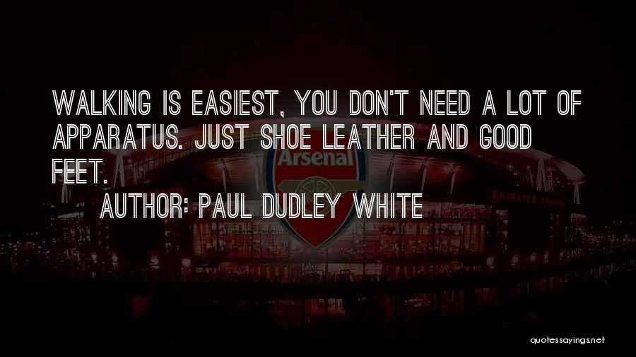 Walking In Your Shoes Quotes By Paul Dudley White