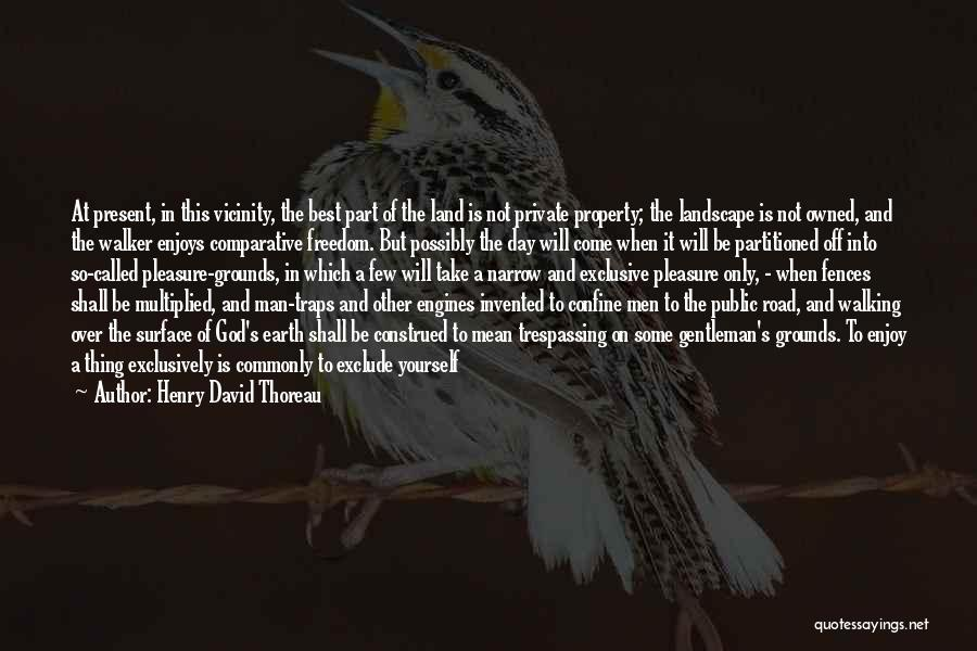Walking On The Road Quotes By Henry David Thoreau