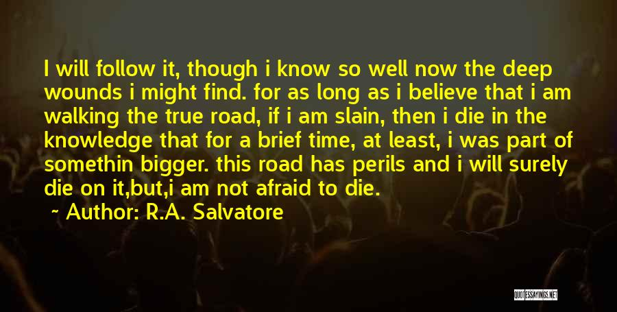 Walking On The Road Quotes By R.A. Salvatore