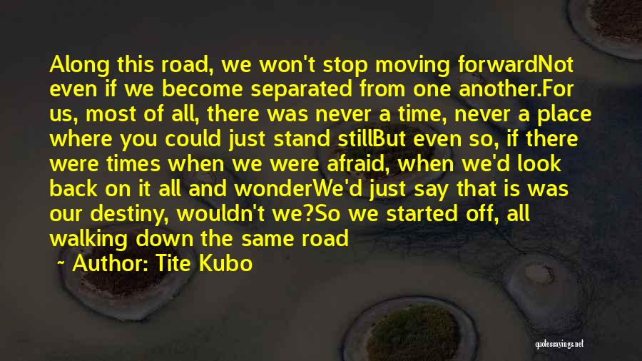 Walking On The Road Quotes By Tite Kubo
