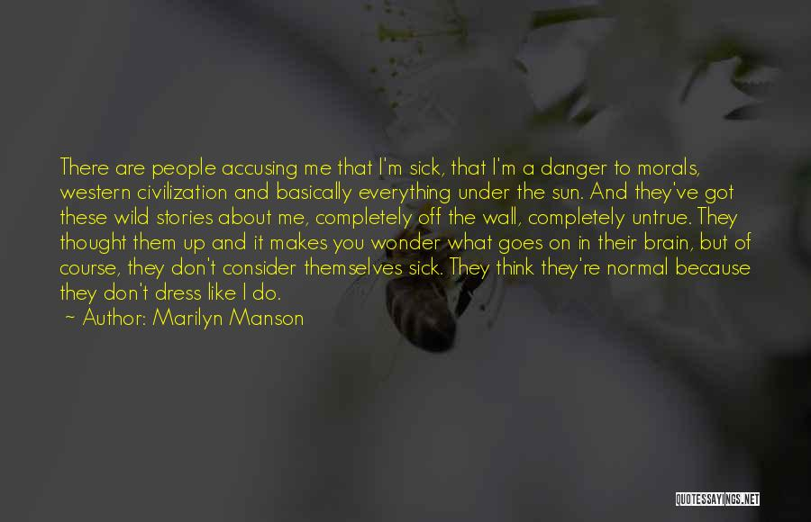 Wall Up Quotes By Marilyn Manson