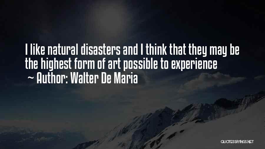 Walter De Maria Quotes 572405
