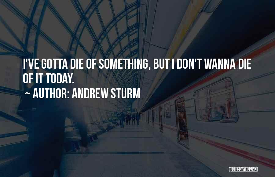 Wanna Die Now Quotes By Andrew Sturm