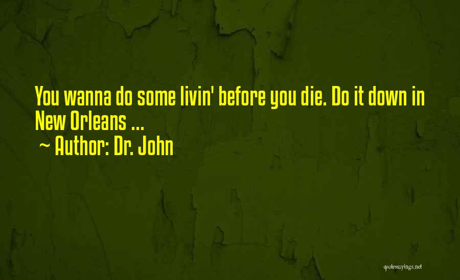 Wanna Die Now Quotes By Dr. John