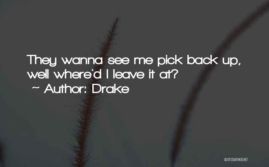 Wanna Leave Quotes By Drake