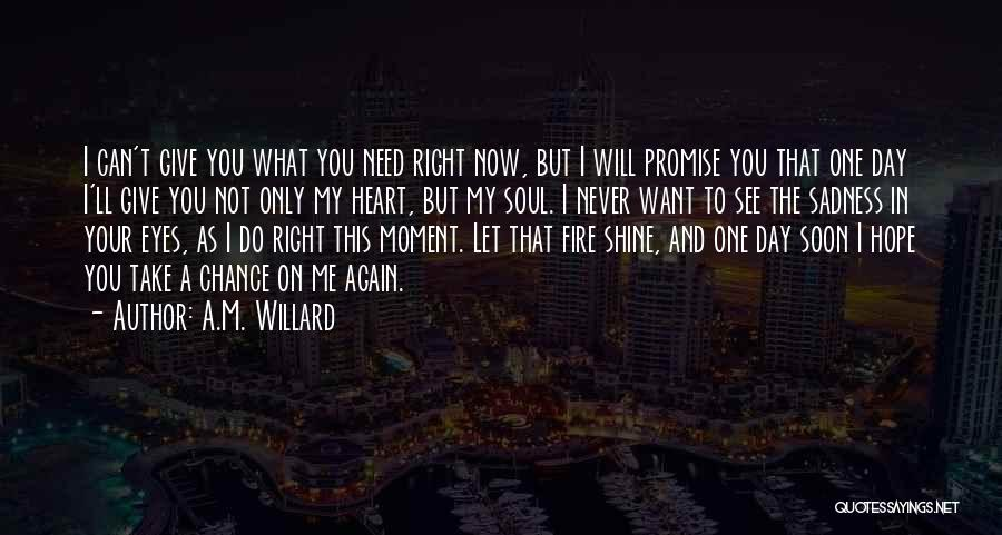 Want To See You Again Quotes By A.M. Willard