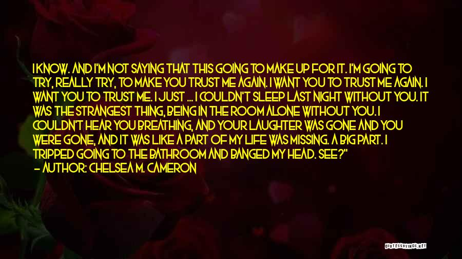 Want To See You Again Quotes By Chelsea M. Cameron
