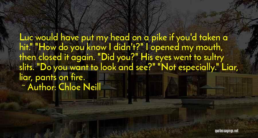 Want To See You Again Quotes By Chloe Neill