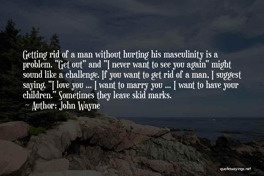 Want To See You Again Quotes By John Wayne