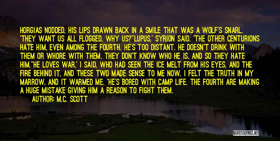 Want To Smile Quotes By M.C. Scott