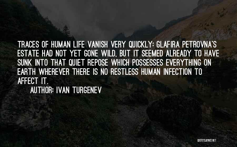 Want Vanish Quotes By Ivan Turgenev