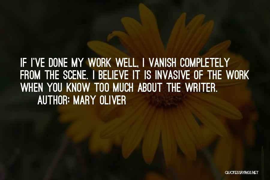 Want Vanish Quotes By Mary Oliver