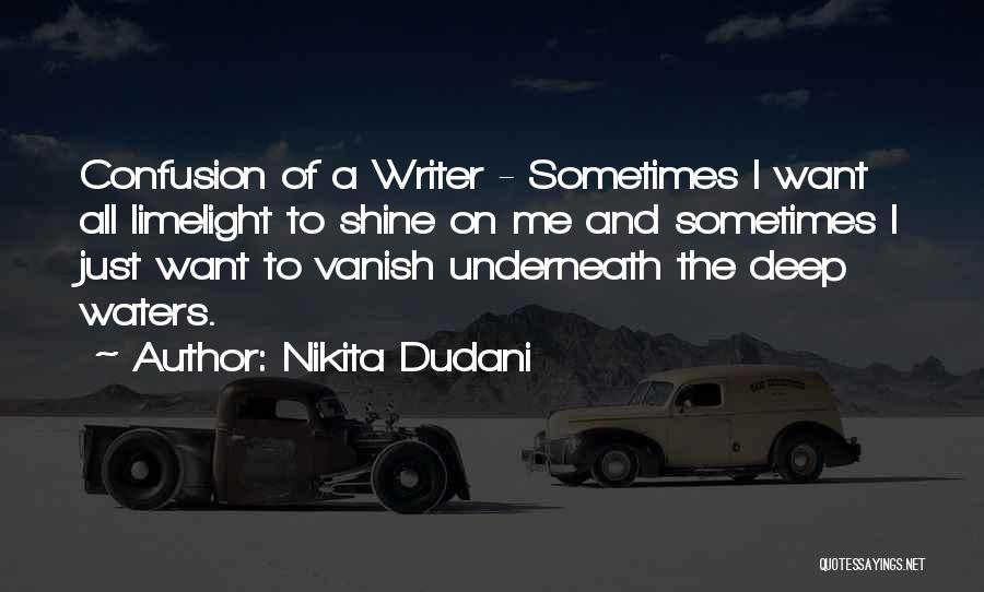 Want Vanish Quotes By Nikita Dudani