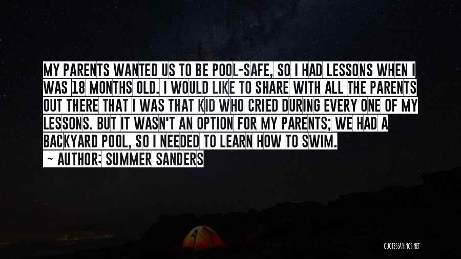 Wanted Quotes By Summer Sanders