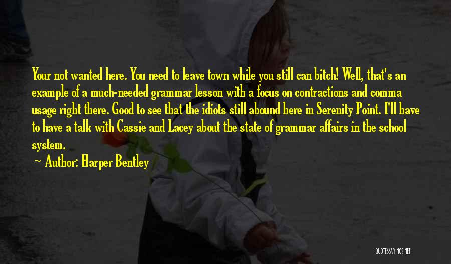 Wanted To Talk Quotes By Harper Bentley