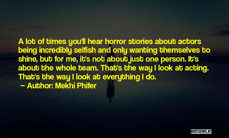 Wanting One Person Quotes By Mekhi Phifer
