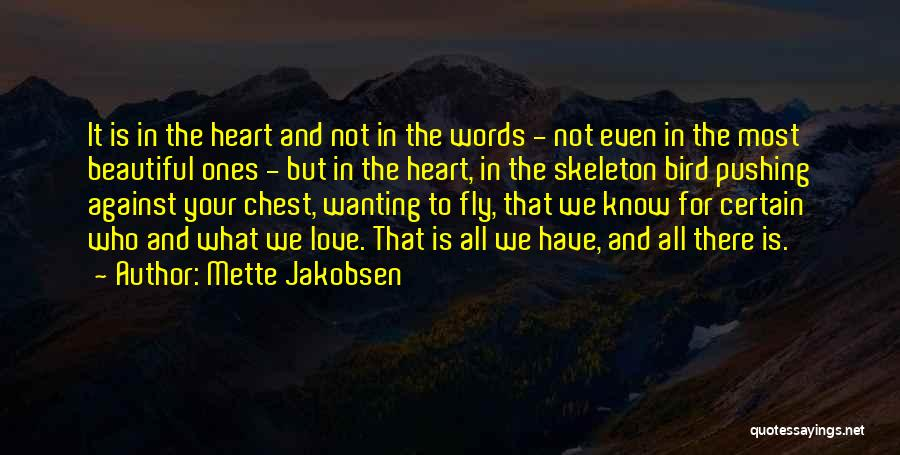 Wanting To Fly Quotes By Mette Jakobsen