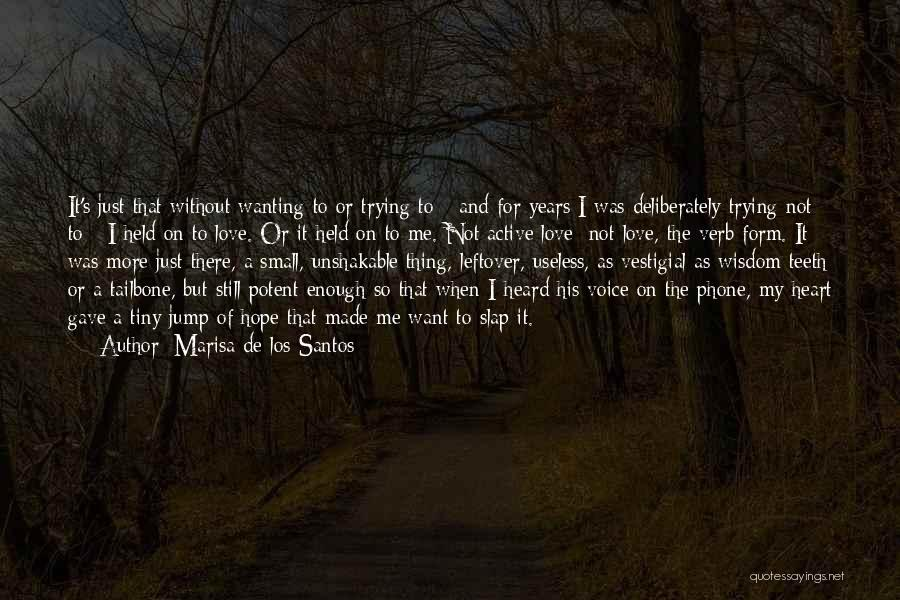 Wanting To Love Yourself Quotes By Marisa De Los Santos