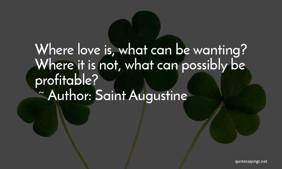 Wanting To Love Yourself Quotes By Saint Augustine