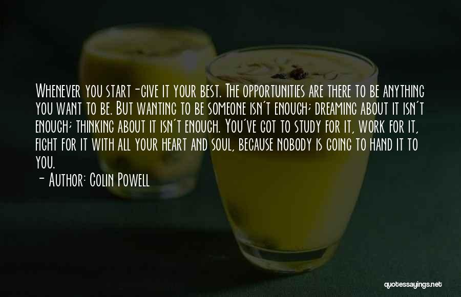 Wanting To Start Over With Someone Quotes By Colin Powell