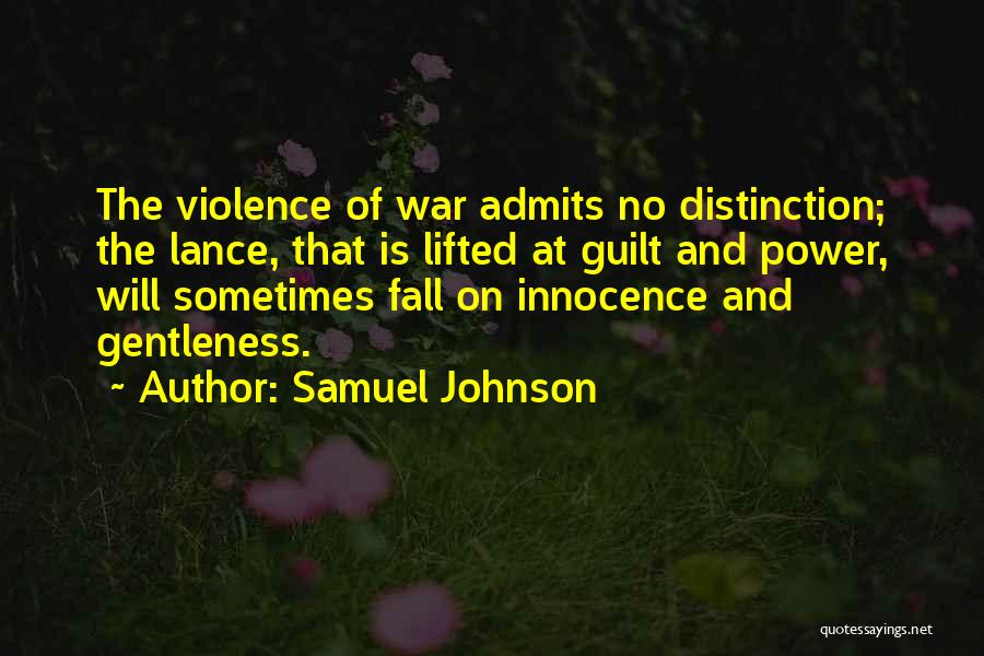 War And Innocence Quotes By Samuel Johnson
