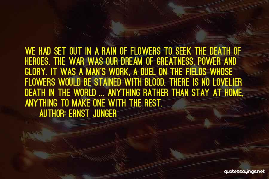 War Heroes Quotes By Ernst Junger