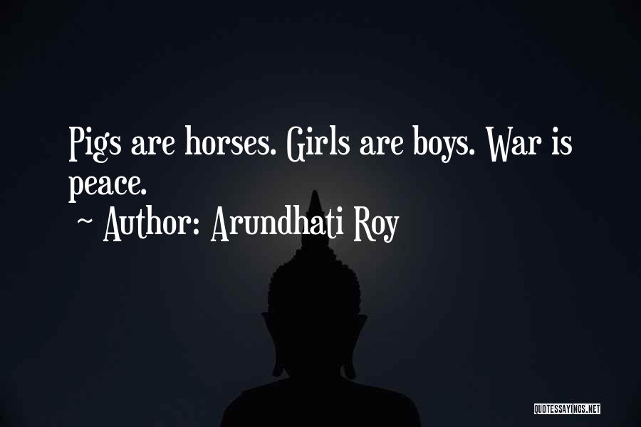 War Horses Quotes By Arundhati Roy