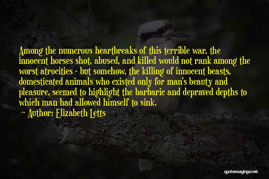 War Horses Quotes By Elizabeth Letts