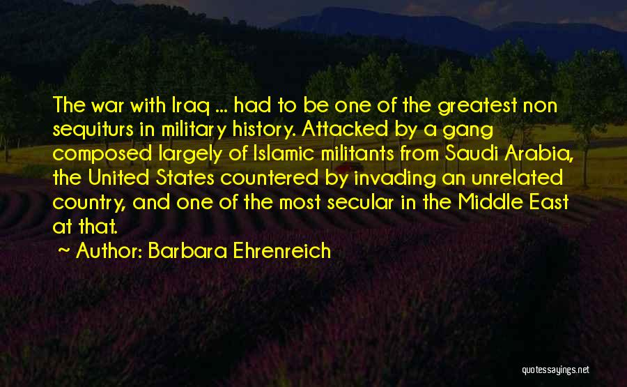 War In Middle East Quotes By Barbara Ehrenreich